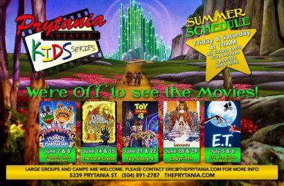 Prytania Theatre Summer Kids Movies Series