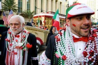 Italian-American St. Joseph's Parade in the French Quarter