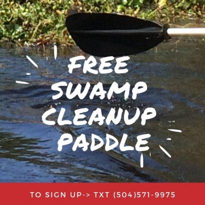 Free Kayak Tour Cleanup on Bayou St. John